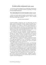 Forholdet mellem statsimmunitet og jus cogens The ... - Juridisk Institut