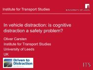 "Response to George Yannis' lecture on ""Distracted Driving"""