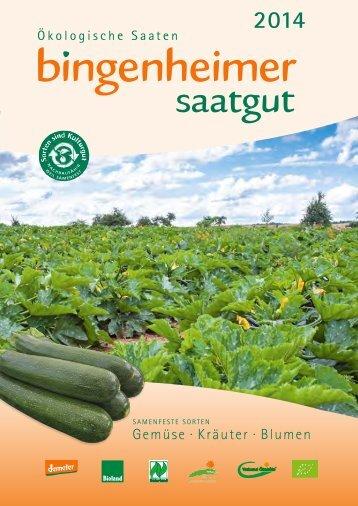 Deutschsprachiger Katalog 2014 - Bingenheimer Saatgut AG
