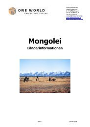 Länderinfos Mongolei - Wanderreisen.de