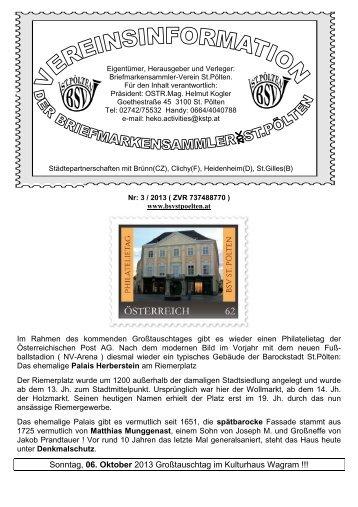 Mitteilungsblatt 3/2013 - BSV St. Pölten