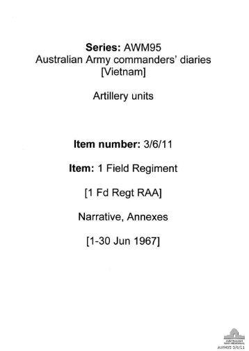 Australian Army commanders' diaries