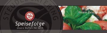 Speisefolge-Prospekt - Steudel Catering GmbH