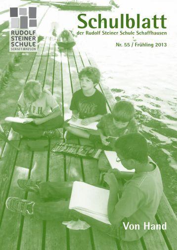 als PDF - Rudolf Steiner Schule Schaffhausen
