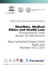 UNESCO Chair in Bioethics - Università degli studi di Napoli L ...