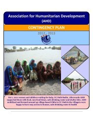 Association for Humanitarian Development CONTINGENCY PLAN