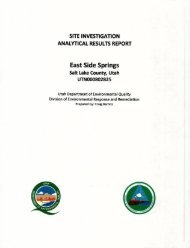 Site Investigation Analytical Results Report - US Environmental ...
