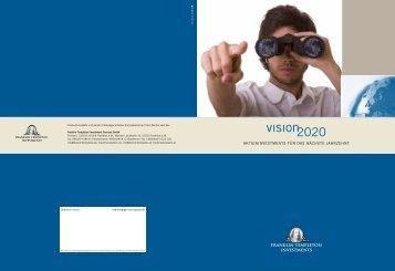 Vision 2020 - Ertrag und Sicherheit