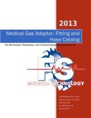 Medical Gas Adaptor, Fitting and Hose Catalog - FS Medical ...