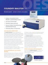 FOUNDRY-MASTER UV Flyer - Oxford Instruments