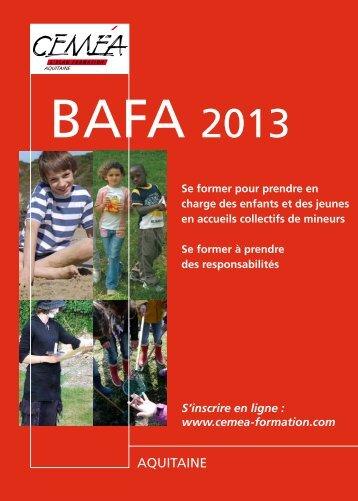 BAFA 2013 - Site régional des Ceméa Aquitaine