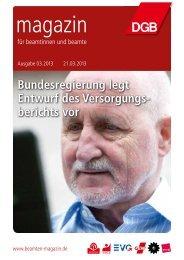zum PDF der Ausgabe 03/2013 - Magazin für Beamtinnen und Beamte