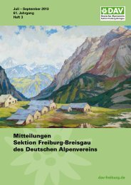 3. Quartal 2013 - Deutscher Alpenverein Sektion Freiburg im Breisgau