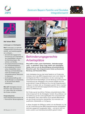 ZB-Bayern 02/2013 - Zentrum Bayern Familie und Soziales