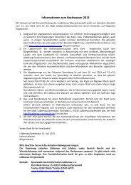 Informationen zum Hochwasser 2013 - Spreewald