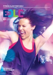 Fitness Class Timetable - East Dunbartonshire Leisure & Culture Trust
