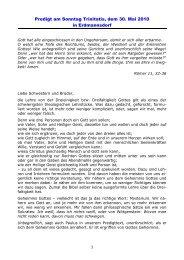 Predigt am Sonntag Trinitatis, dem 30. Mai 2010 in Erdmannsdorf