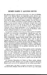 RUBÉN DARÍO Y ALFONSO REYES