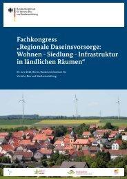 """Fachkongress """"Regionale Daseinsvorsorge: Wohnen - Siedlung ..."""
