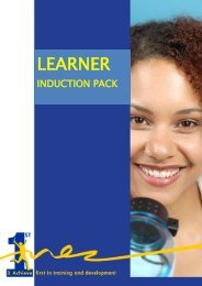 Learner Induction Pack - 1st2Achieve