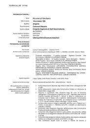 dirigente Comune di Messina Dirigente Organismo di Staff ...