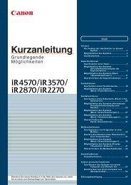 Möglichkeiten des Systems - Kopierer-Welt GmbH