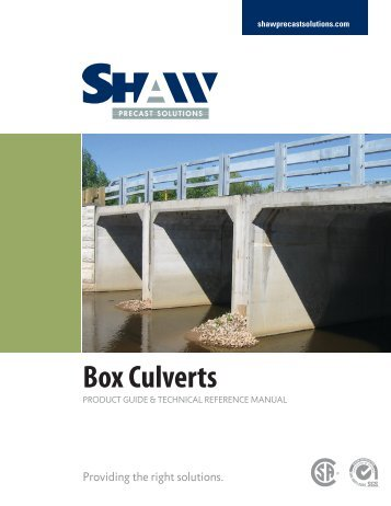 box culverts product guide - Shaw Precast Solutions
