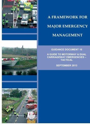 A Guide to Motorway & Dual Carriageway Emergencies - Tactical