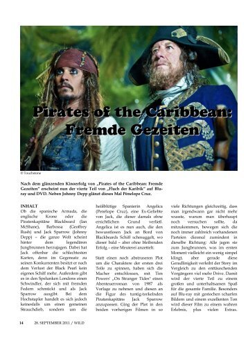 Pirates of the Caribbean: Fremde Gezeiten - WILD Magazin
