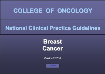 Breast Cancer - College Oncologie