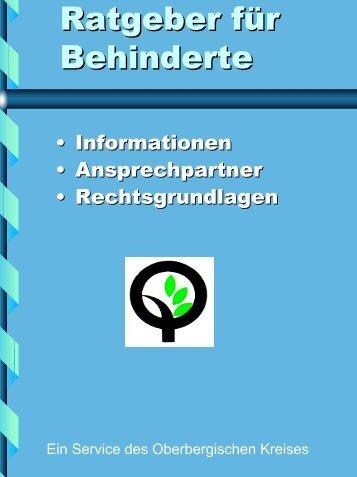 Vorwort - Oberbergischer Kreis