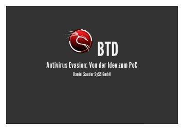 Antivirus Evasion: Von der Idee zum PoC