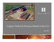 Presentation - PolyMet Mining