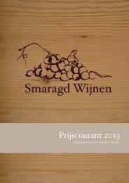 Prijscourant maart 2013.indd - Smaragd Wijnen