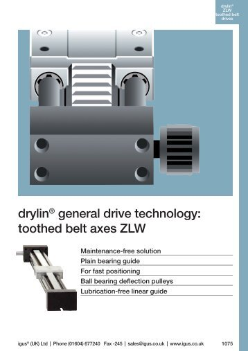 drylin® general drive technology: toothed belt axes ZLW - Igus