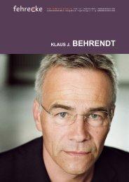 KLAUS J. BEHRENDT - Fehrecke