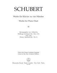 SCHUBERT - Bärenreiter Verlag
