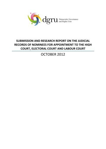 Read the report - DGRU - University of Cape Town