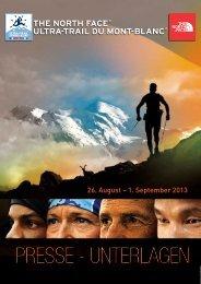 Presse - Unterlagen - The North Face® Ultra-Trail du Mont-Blanc