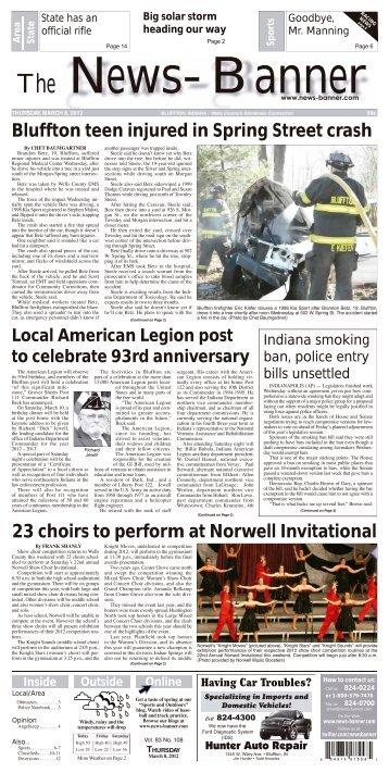 Local Classifieds - Bluffton News Banner