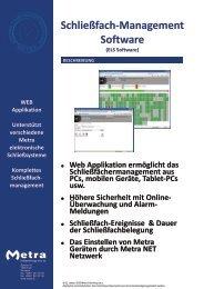 Schließfach-Management Software - Metra