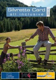 Silvretta Card Inclusive - Informationen - Kappl