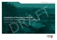 Completion of Heysham to M6 Link Extract from ... - Your Council