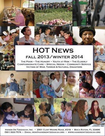 Fall 2013 - Winter 2014 - Hands On Tzedakah