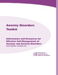 Anxiety Disorders Toolkit - UBC Psychology Clinic