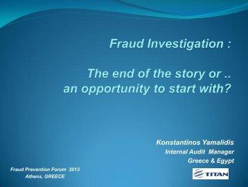 Konstantinos Yamalidis - Fraud Prevention Forum 2013