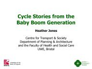 Cycle stories from the baby boom generation