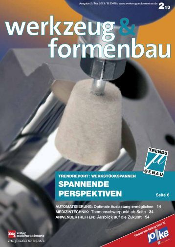SPANNENDE PERSPEKTIVEN - Werkzeug und Formenbau
