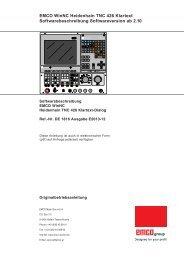 EMCO WinNC Heidenhain TNC 426 Klartext Softwarebeschreibung ...