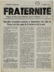 Nouvelles arrestations massives et déportations des Juifs de France ...